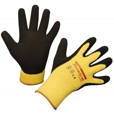 Rukavice pracovní POWERGRAB THERMO, žluté vel.7