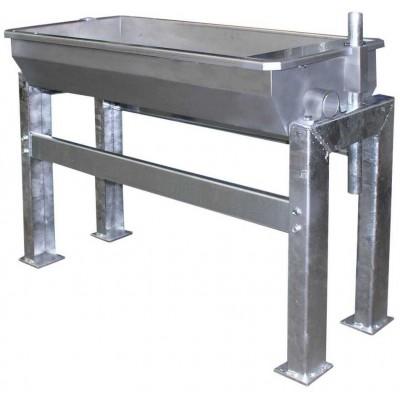 Napaječka EuroFarm nerez 100cm, pro montáž na podlahu 30l, 44kg