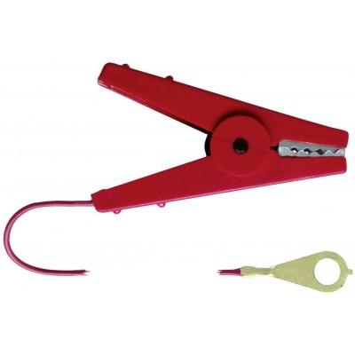 Kabel propojovací s krokospojkou, červený