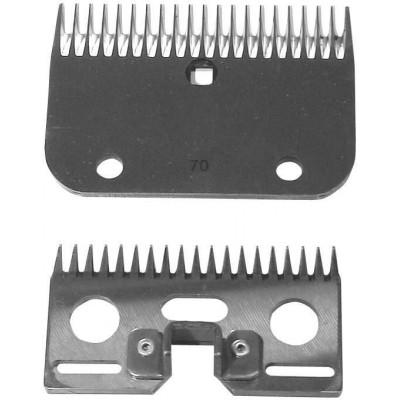 Nože náhradní pro stříhací strojek mírně znečištěná, č.60, 3mm střih, 24z horní, 18z spodní