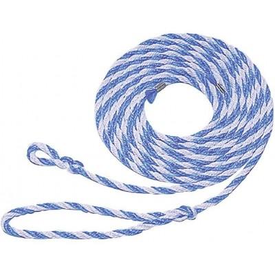 Vazák polypropylen 3, 20m s malou smyčkou, modro-bílý