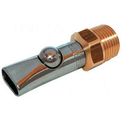 """Napajecí kulový nátrubek pro selata do 30kg, s kapací funkcí, 1/2"""", 66mm, poslední kusy"""