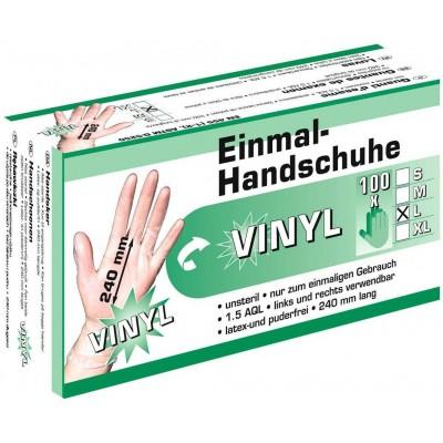 Rukavice veterinární VINYL na jedno použití, bílé neprůhledné,