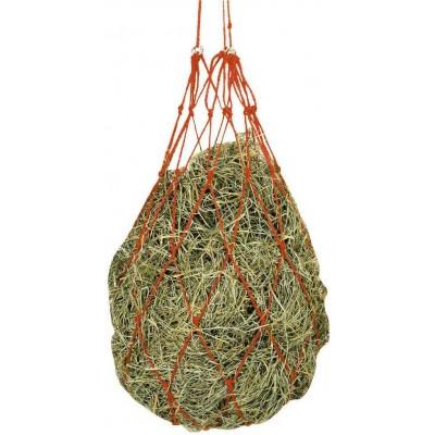 Síťka na seno s kroužky pro zavěšení zelená, 10x10cm