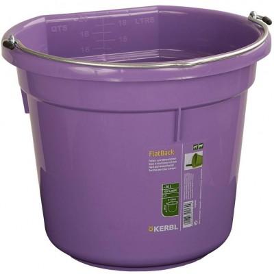 Kbelík na krmivo a vodu, plast FlatBack, zelený 20l