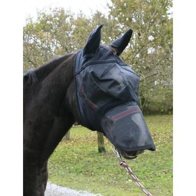 Maska proti hmyzu pro koně s ochranou síťkou na uši nozdry, z PVC, pony