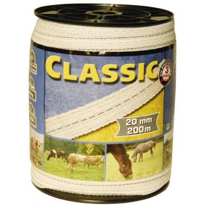 Vodič páska 20mm, 200m, bílá, 4x0,20mm + 2x0,30mm nerez CLASSIC