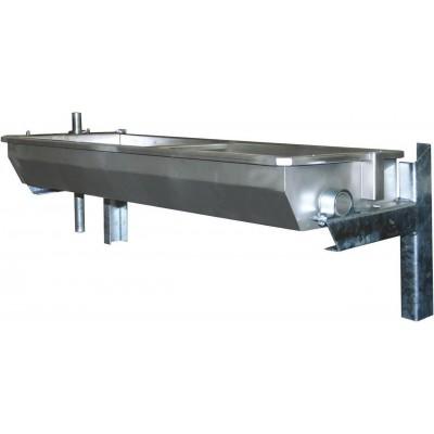 Napaječka vyhřívaná EuroFarm nerez 100cm, pro montáž na podlahu pozink, 30l , 30kg, 100W