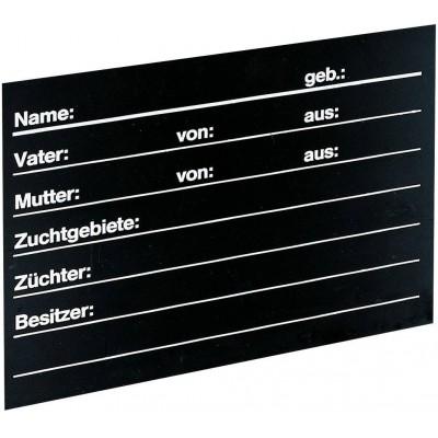 Tabulka stájová, pro skot, černá, 40x30cm
