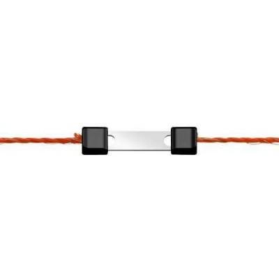 Litzclip na lanko, 3mm, rovný, nerez, 10ks