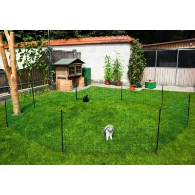 Siť ohradníková pro králíky, 50m, 15 tyček, 2 špice