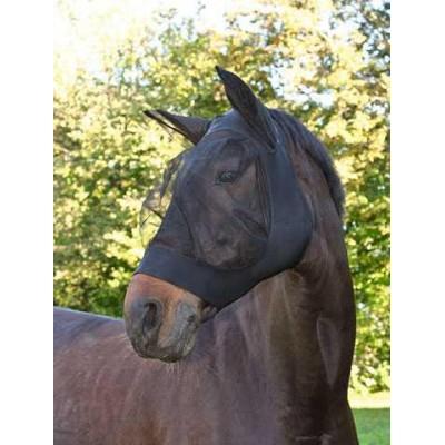 Ochranná maska proti mouchám FinoStretch, černá, poník