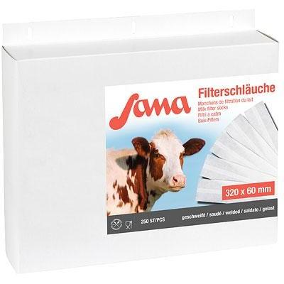 Filtrační rukáv na mléko Sana, lepený, 320mm, 57/60mm, 250ks