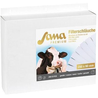 Filtrační rukáv na mléko Sana Premium, šitý, 250mm, 57/60mm, 250ks