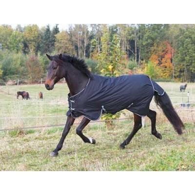 Výběhová deka pro koně RugBe 200 kolekce 2016, černá, 115 cm / 165 cm