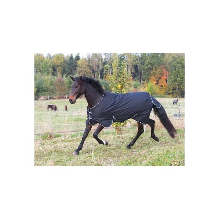 Výběhová deka pro koně RugBe 200 kolekce 2016, černá, 165 cm / 215 cm