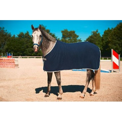 Deka pro koně RugBe Economic, flísová, modrá, 165 cm / 215 cm