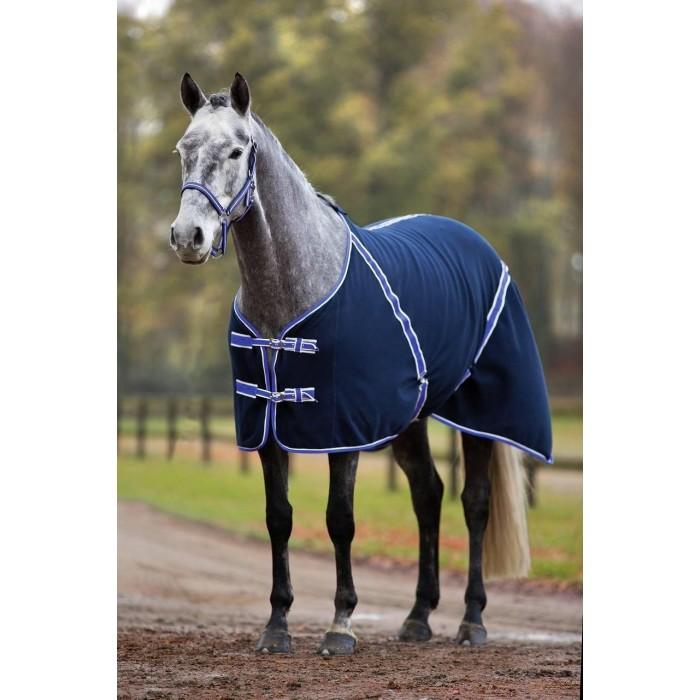 Deka transportní a odpocovací RugBe Classic Fleece, tmavě modrá/fialová, 165x215cm