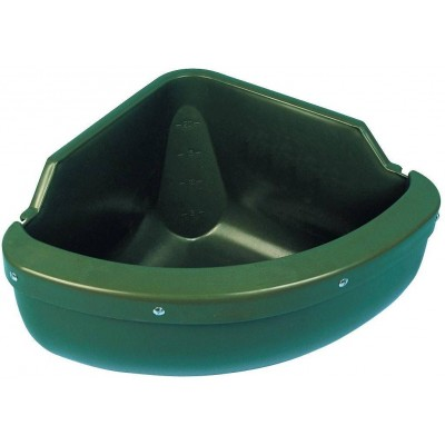 Žlab rohový, 31l, plast, 60x30x45cm, zelený plast