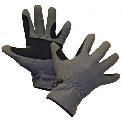 Rukavice jezdecké fleece, šedé, vel.L, poslední kusy