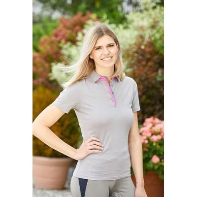 Tričko s límečkem Sophia, světle šedá, vel. L, poslední kus
