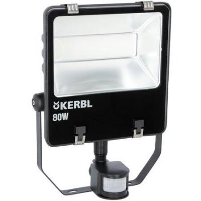 Venkovní LED světlomet s pohybovým senzorem, 80 watt, 6 000 lm