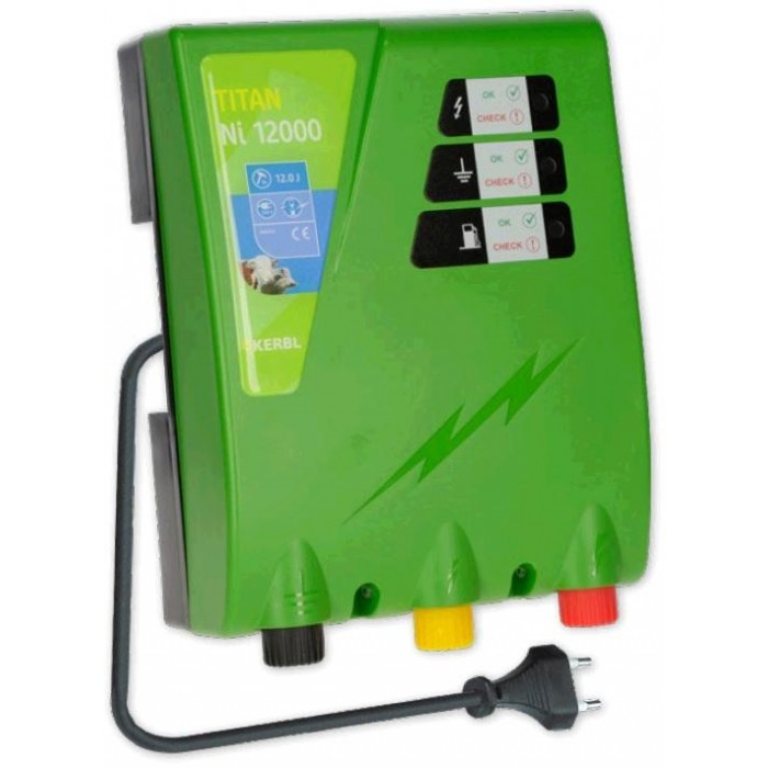 Elektrický ohradník - Ohradníkový zdroj Kerbl TITAN Ni12000