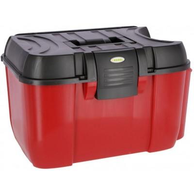 Box na čistící potřeby JUMBO, červená/černá, nosnost až 120 kg