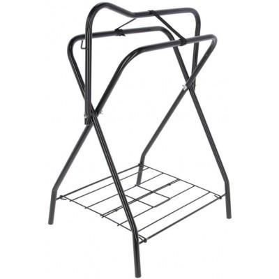 Stojan na sedla, černý, 89x71x46 cm