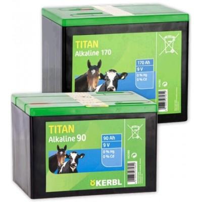 Baterie TITAN suchá alkalická, 9V, 90Ah