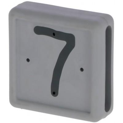 Plastové číslo 7 na pásku na nohu, šedé