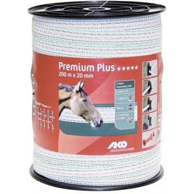 Vodič páska 20mm, 200m, Premium Plus, 5x0.40, bílá/zelená