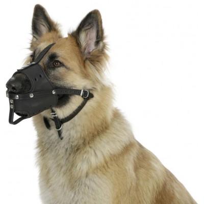 Náhubek kožený pro psy, 26 cm, 7,5 cm