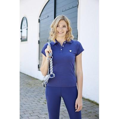 Dámské tričko s límečkem Sinara, modrá, vel. XL