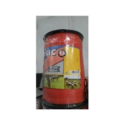 Vodič páska 40mm, 200m, BASIC, oranžová, 200m