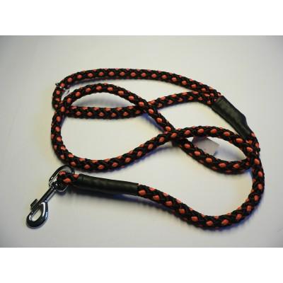 Vodítko z lana 14mmx150cm černo-oranžová