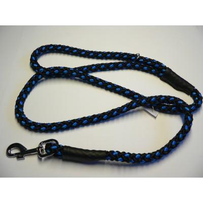 Vodítko z lana 14mmx150cm černo-modrá