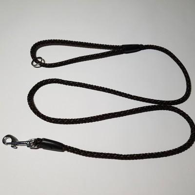 Vodítko z lana 8mmx150cm černo-hnědá