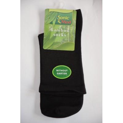 Diabetické bambusové ponožky bez lemu černé 39/41