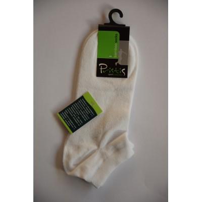 Pánské bambusové ponožky bílé 39/42