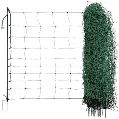 Ohradníková síť pro ovce OviNet zelená 90cm/dvojitý hrot