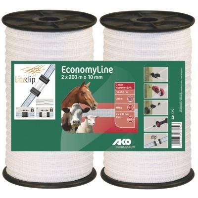 Vodič páska Economy Line 10mm, 2x200m, bílá, 4xnerez _0, 16mm