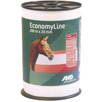 Vodič páska Economy Line 20mm, 200m, bílá