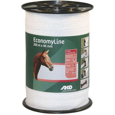 Vodič páska Economy Line 40mm, 200m, bílá