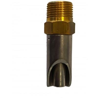 """Napajecí ventil mosaz/nerez 3/8"""" 60mm se sítkem"""