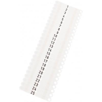 Ušní známky Twintag s popisem 50 ks, bílé, č. 51-100