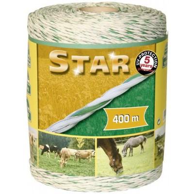 Vodič lanko 400m, STAR*LINE, zeleno-bílá, 3x0,25 Cu, 3x0,2 nerez
