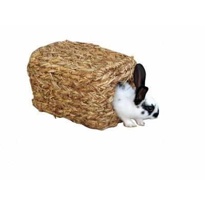 Pelech pro křečka -roura z trávy, 28x18x15cm