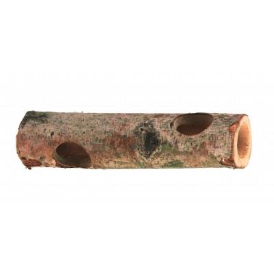 Tunel pro křečky - dřevo, 20cm, otvor průměr 4cm