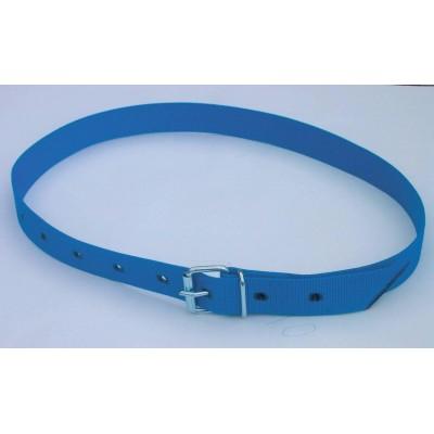 Obojek na krk tkaný, pro číselné označení modrý 90cm, poslední kusy